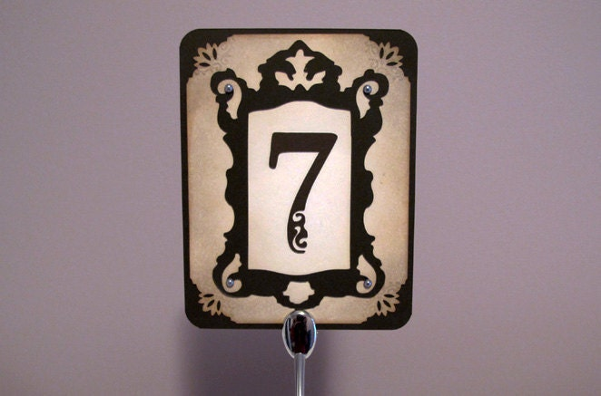 Elegant Vintage Wedding Table Number From rinlee