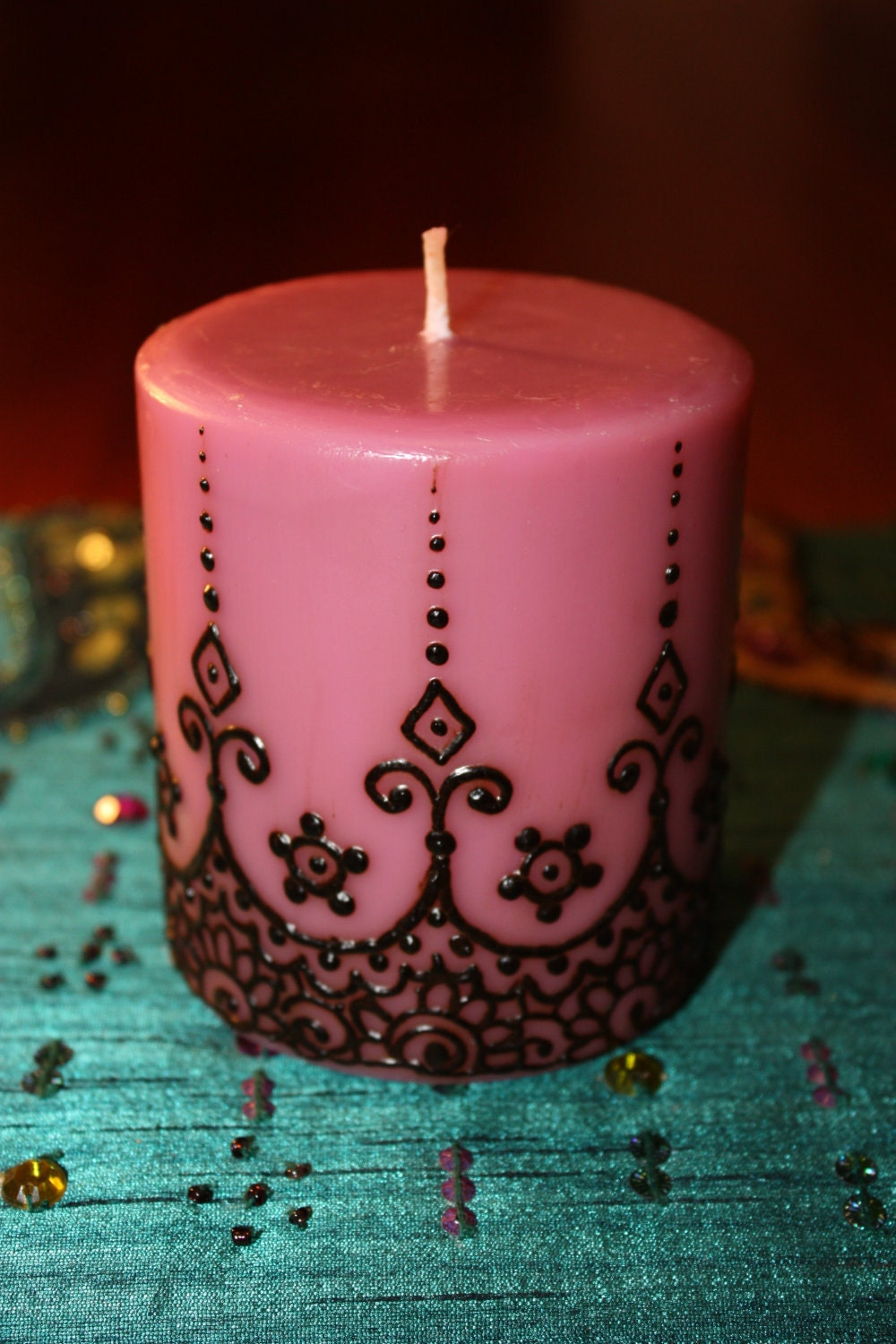 Beautiful candle decoration with mehndi tafreeh mela