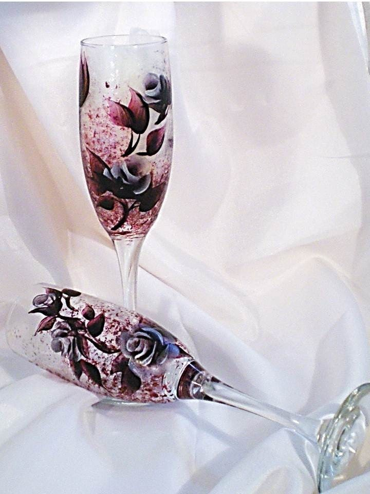 Silver Roses Set of 2 Wedding Bridesmaid Gift Valentines Day