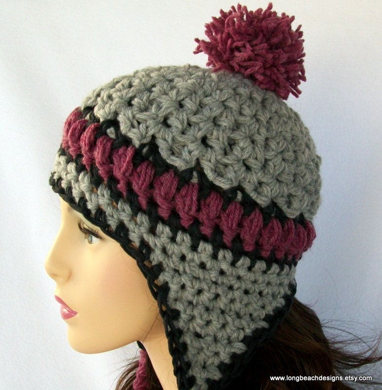 Double Crochet Hat Pattern With Ear Flaps : CROCHETED EAR FLAP HAT ? Crochet For Beginners