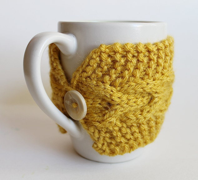 Knitting Pattern For One Cup Tea Cosy : Artistic Life: Knitted Cup Cozy