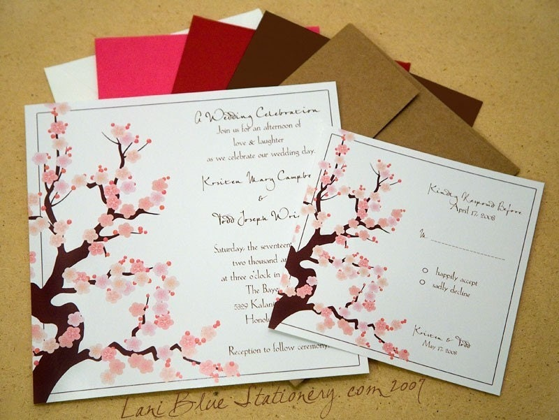Elegant and budget friendly cherry blossom invites cherry blossom invites stopboris Image collections