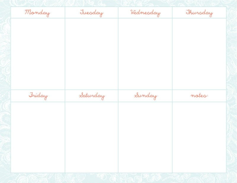 "Search Results for ""Cute Weekly Calendar Template ..."