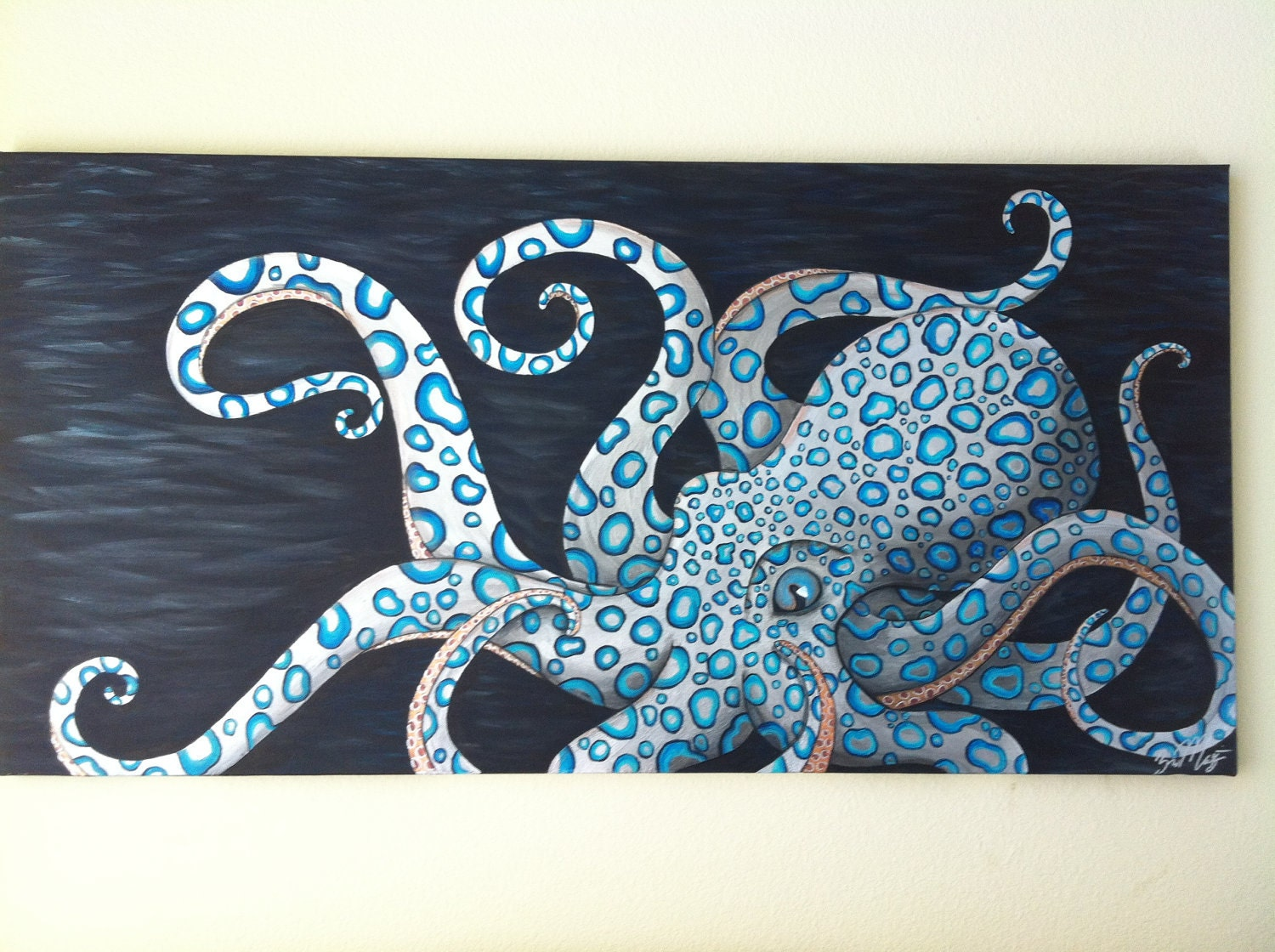 blue ringed octopus painting | Tattoo Ideas | Pinterest