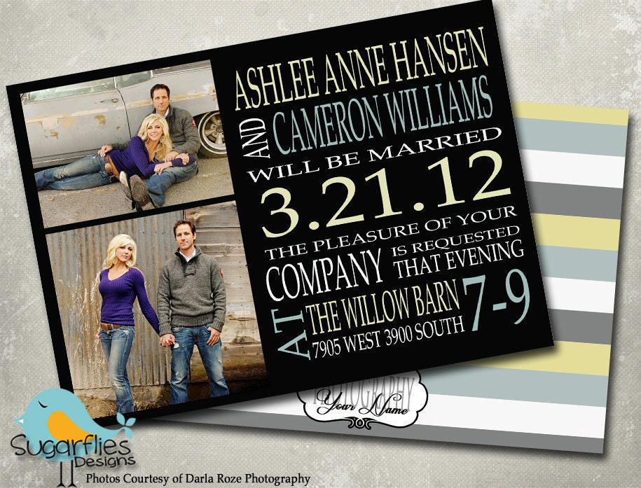 Wedding Announcement Templates Wedding Announcements 9