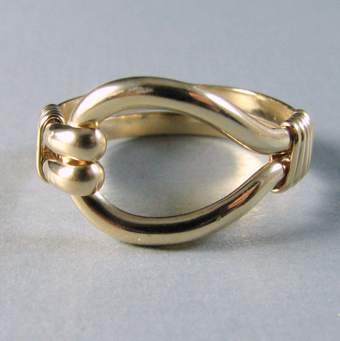 14k Gold Filled 14k GF Loop Ring Band Custom Sized