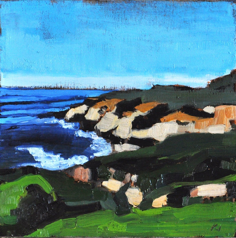 California Landscape Painting Cabrillo