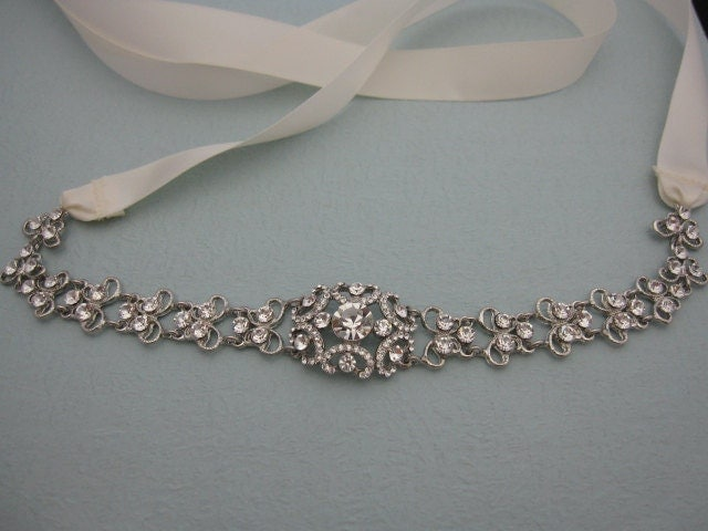 Bridal belt sash ribbon rhinestone bridal sashes jeweled bridal belts