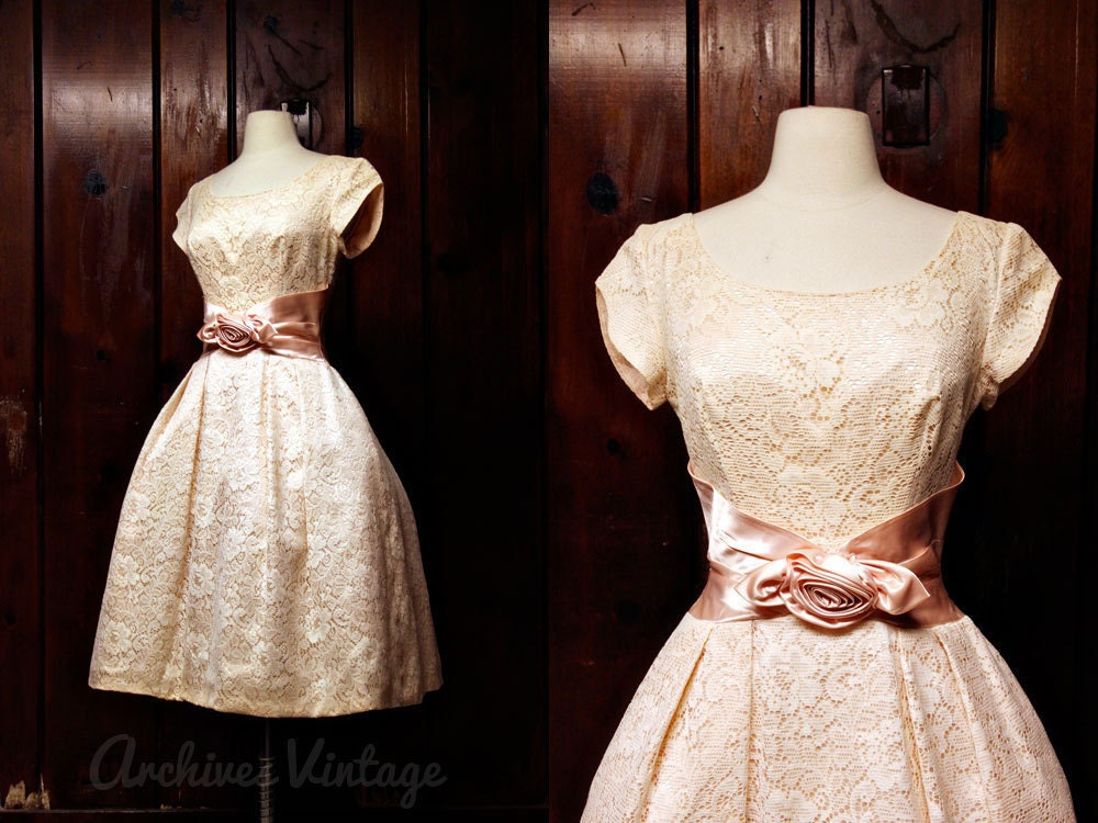 1950s wedding dress 50s formal dress RESERVED vintage wedding dress S