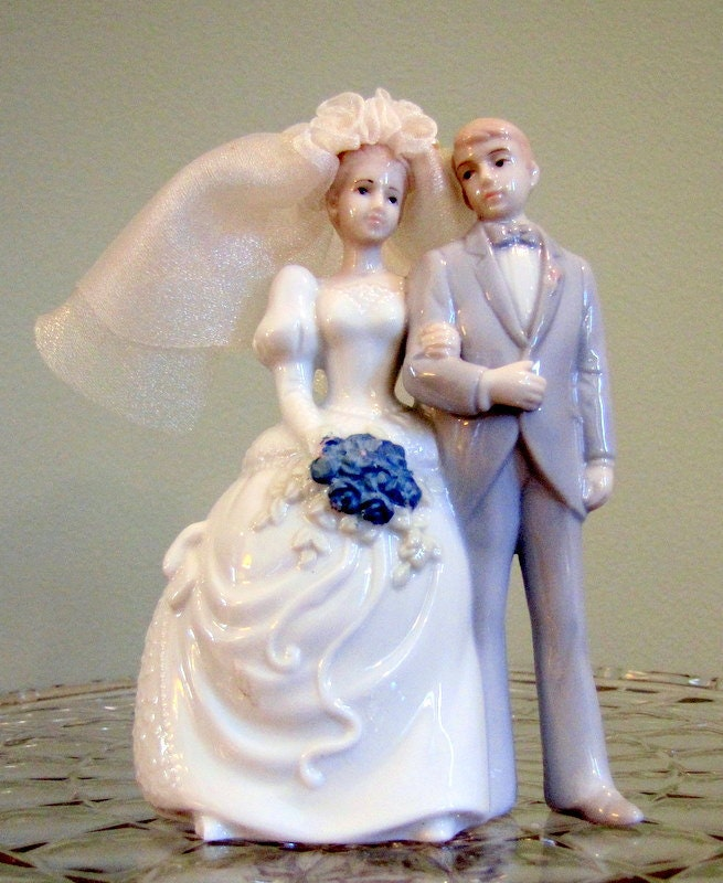 Vintage Wedding Cake Bride and Groom From barbsbin