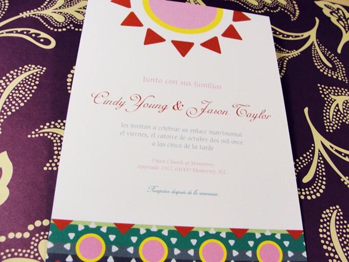 Mexico theme DIY Printable Wedding Invitation Set Invitation RSVP