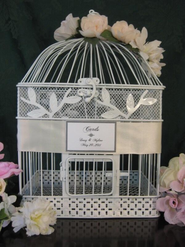 Vintage Style Bird Cage Wedding Card Holder Wedding Card Holder Birdcage