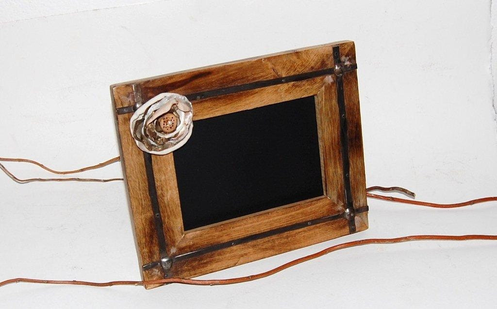 Rustic Chic CHALKBOARD Frame Wood Western Wedding Organza Flower