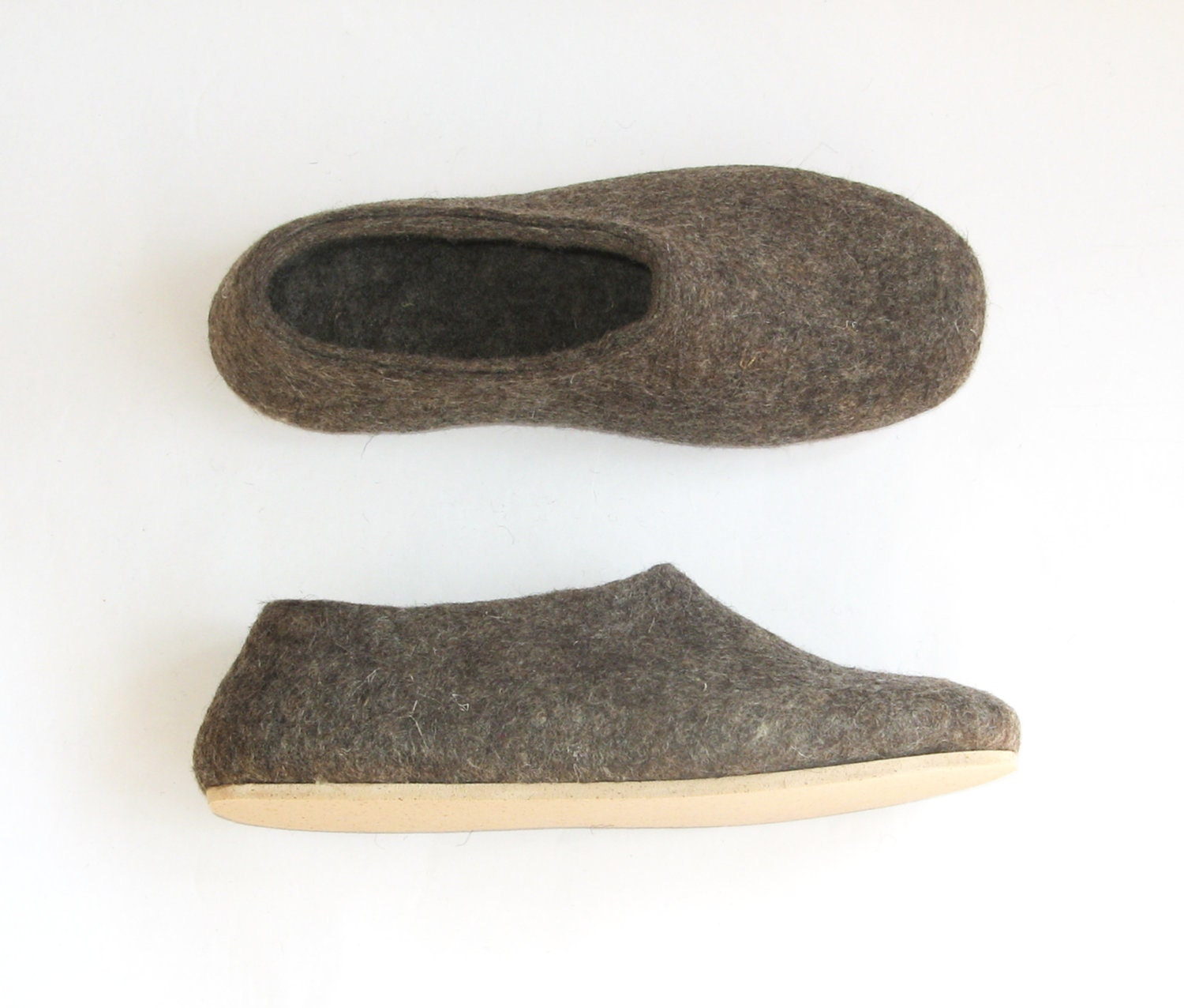 Eco Friendly Slippers: Felted Wool Slippers, Wool Boots, Cat Beds: Cork Sole