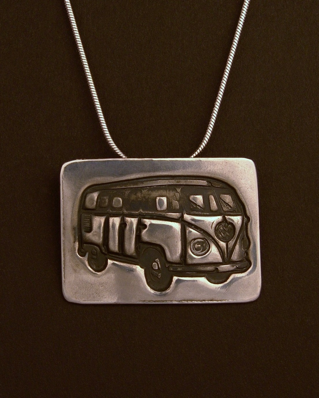 Sterling Silver VW Bus Hippie