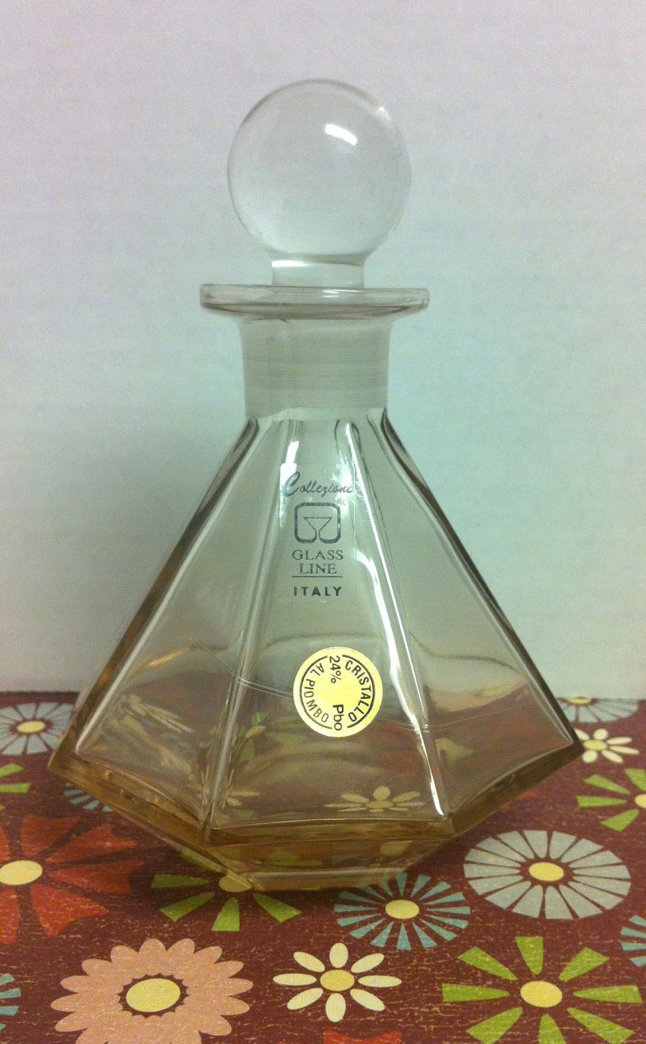 Leni Italy  city photo : Collezione Glass Line Italy Vintage Perfume Decanter Bottle with ...