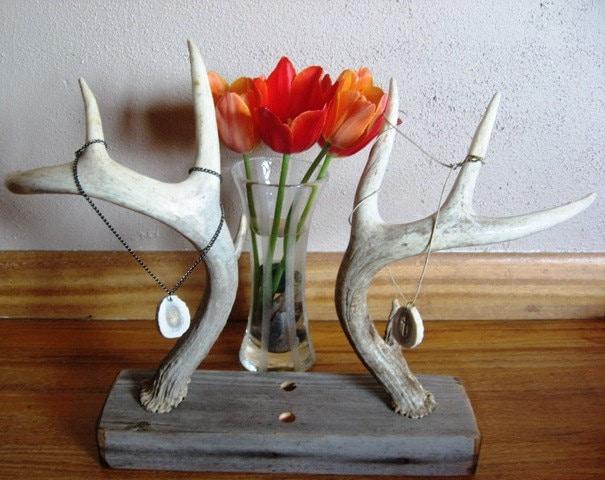 deer antler horn slice jewelry