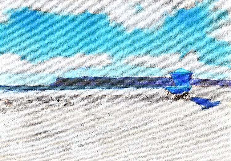 San Diego Coronado Lifeguard Stand Original Oil Painting by Kevin Inman