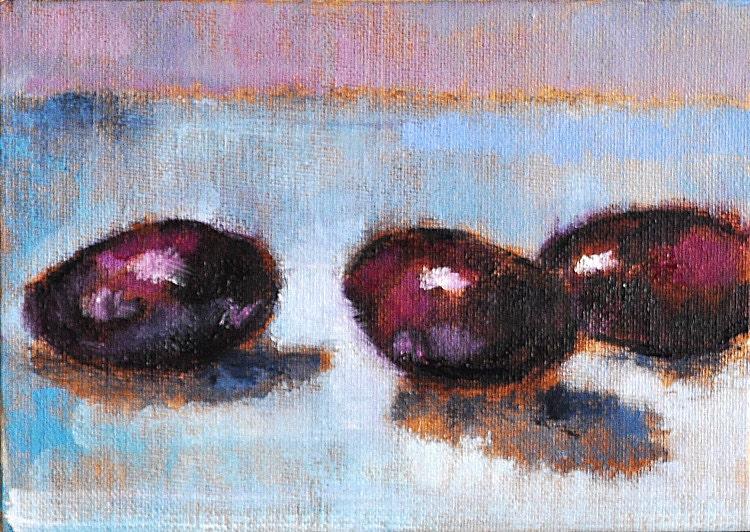 Eggplant Still Life Kitchen Painting Original Fine Art