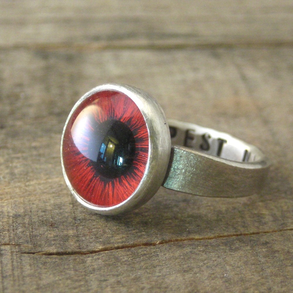 Deepest Night Eyeball Ring