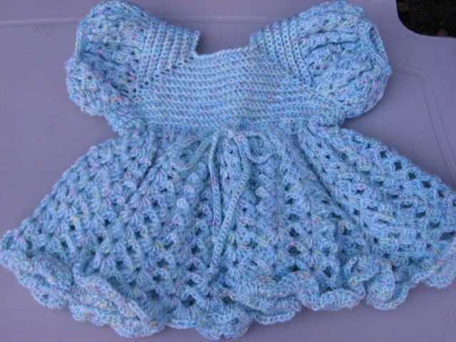 Crochet Knitting Patterns : Crocheted Infant Dress Free Knitting Patterns