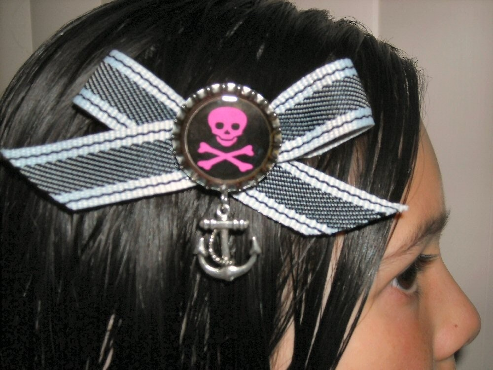 Skull and Crossbones Bottle Cap Hair
