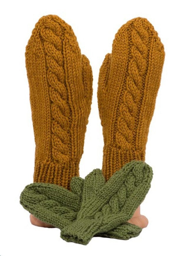 Mind's Eye Yarns - Knitting Pattern - Fast Baby Mittens