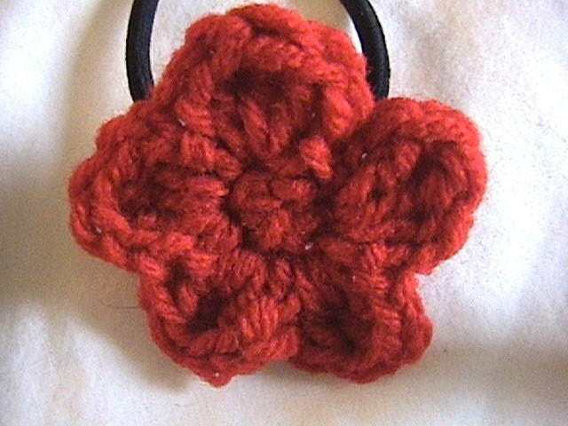 goody ponytail holders. Red Flower Ponytail Holder