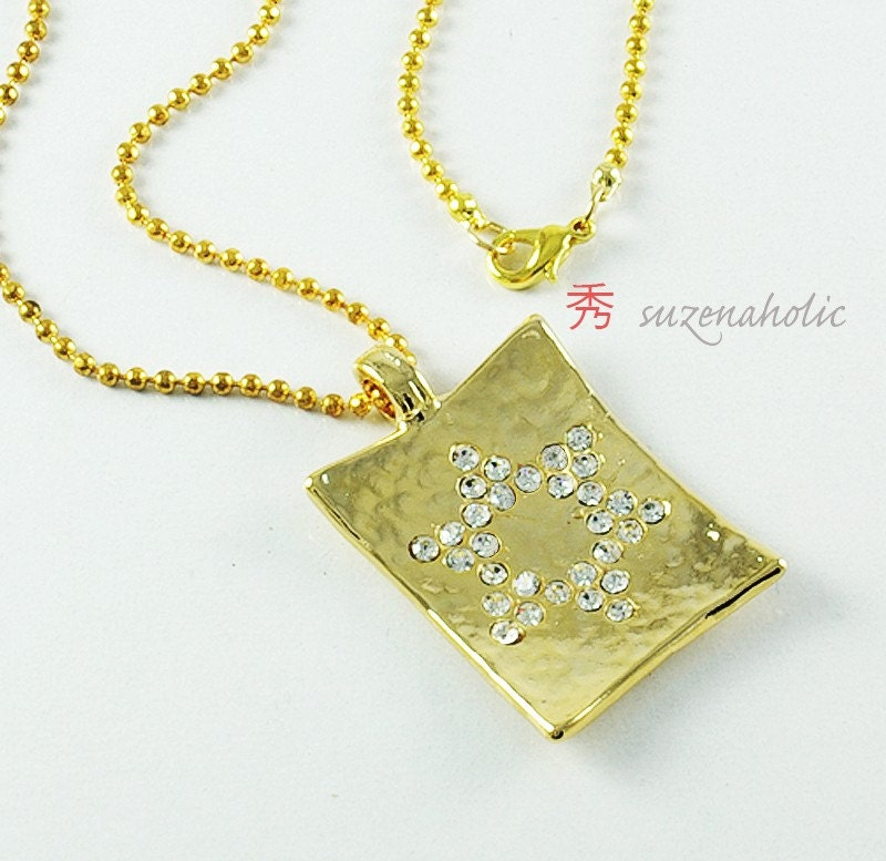 gold star of david necklace. Gold star of david#39;s Necklace. From suzenaholic