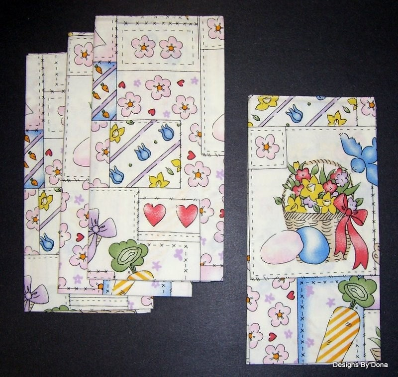 Napkins, set of 4, Easter Patches,