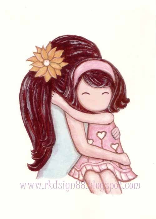 rkdsign88.blogspot.com etsy girl daughter mother illustration drawing art print cute whimsical reproduction digital love