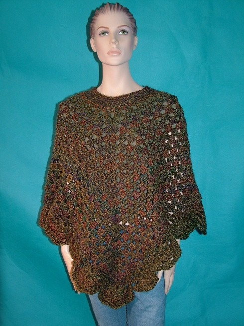 FREE KNITTING PATTERNS: Martha Stewart's Poncho Pattern