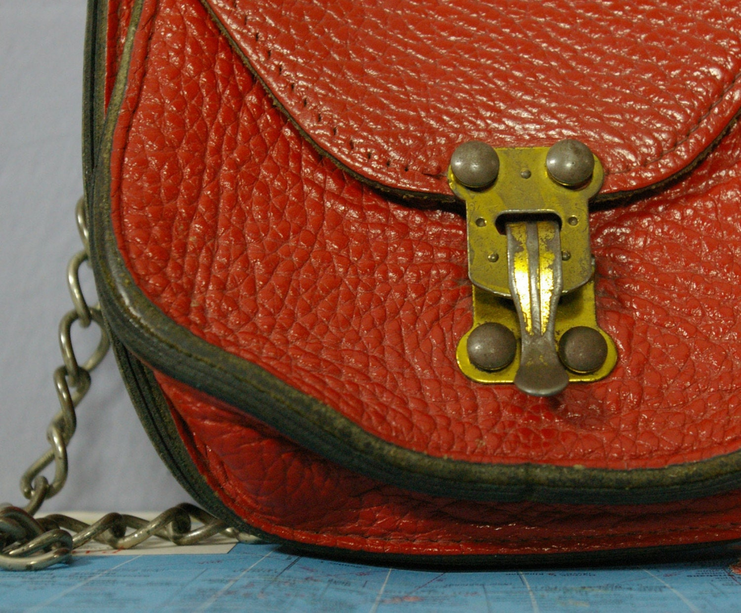Etsy :: MariesVintage :: Vintage Rugged Red POUCH PURSE