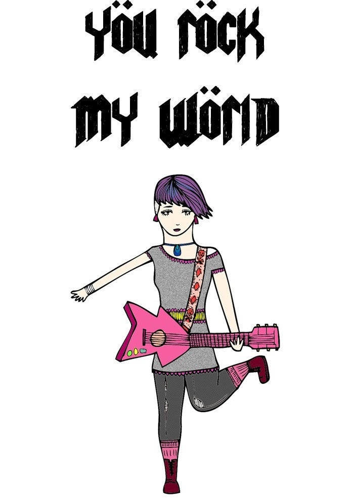 Greeting Card - You rock my world