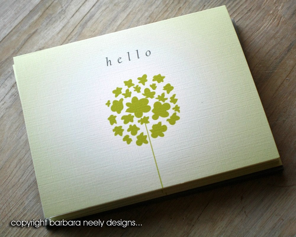 A Very Dandy Hello - Folded Notes