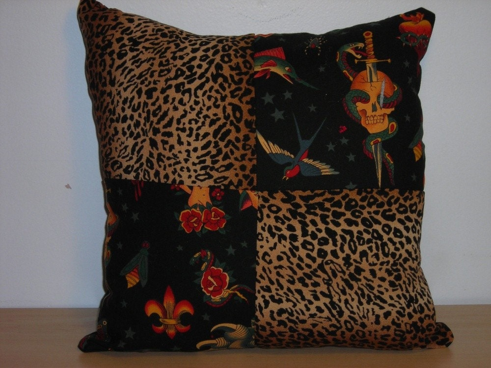 Leopard Print Tattoo Pillow. From CherryBombInd