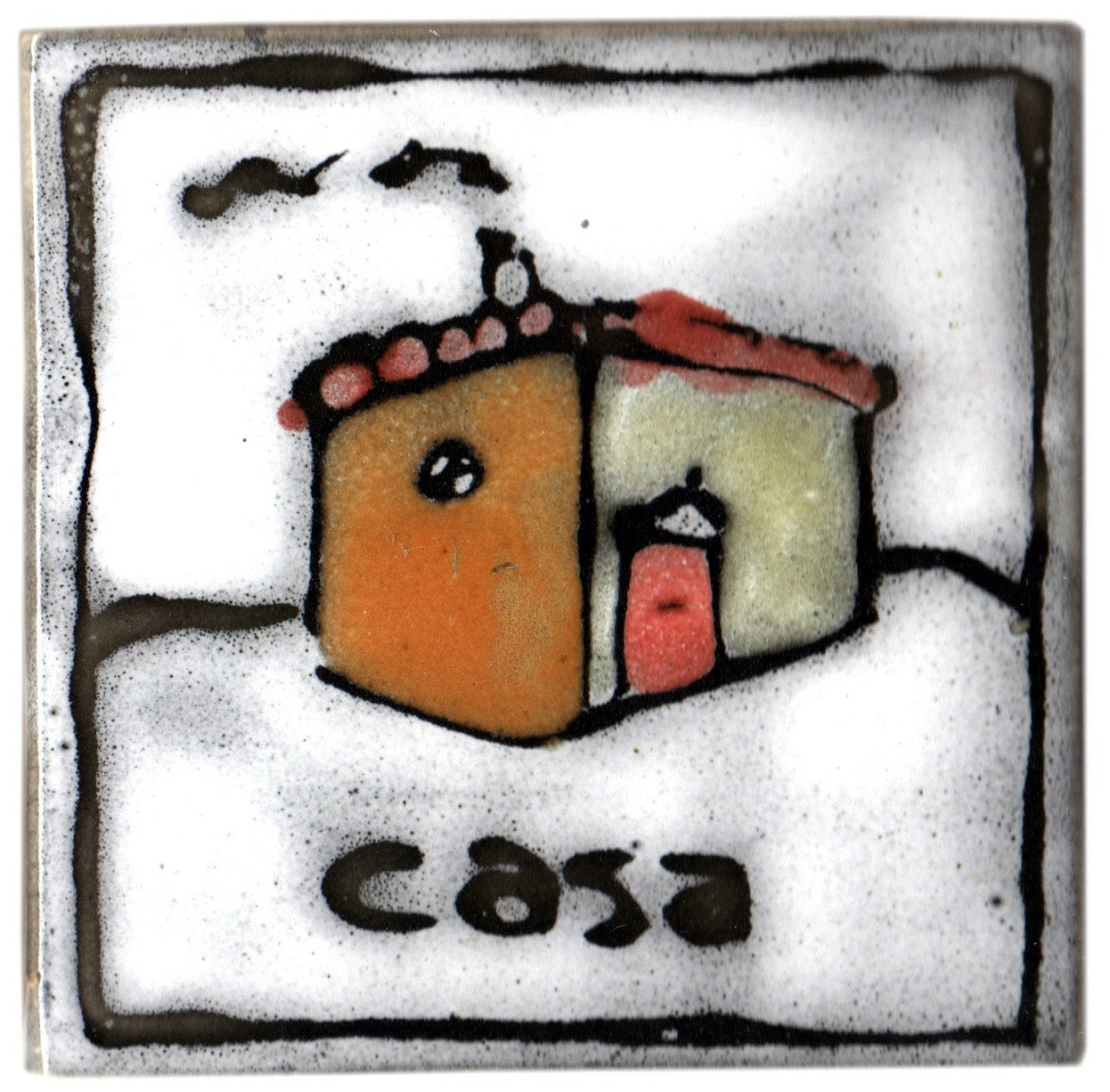 hand made hand painted tile with italian farmhouse casa design