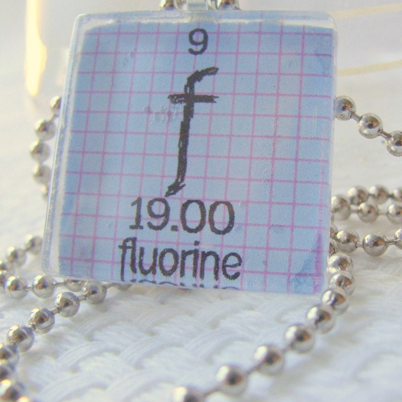 Fluorine Glass Tile Periodic Table