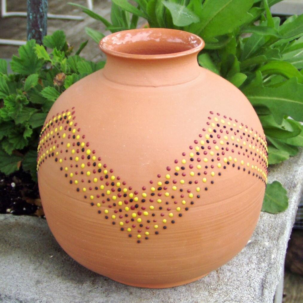 Matka terracotta pot from India