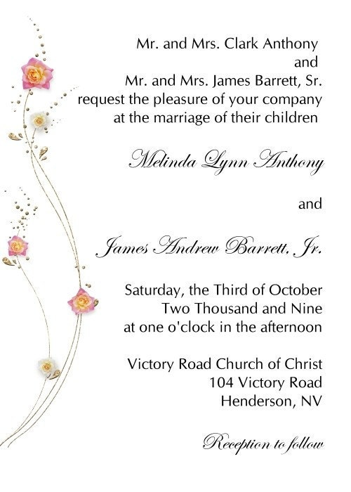 Simple Wedding Invitation along with