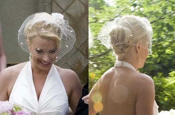 Birdcage veil bridal headpiece feather fascinator From joeireedhats