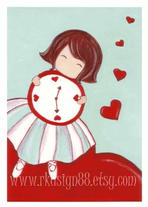 rkdsign88.blogspot.com etsy heart love red fun illustration nursery drawing art print cute whimsical reproduction