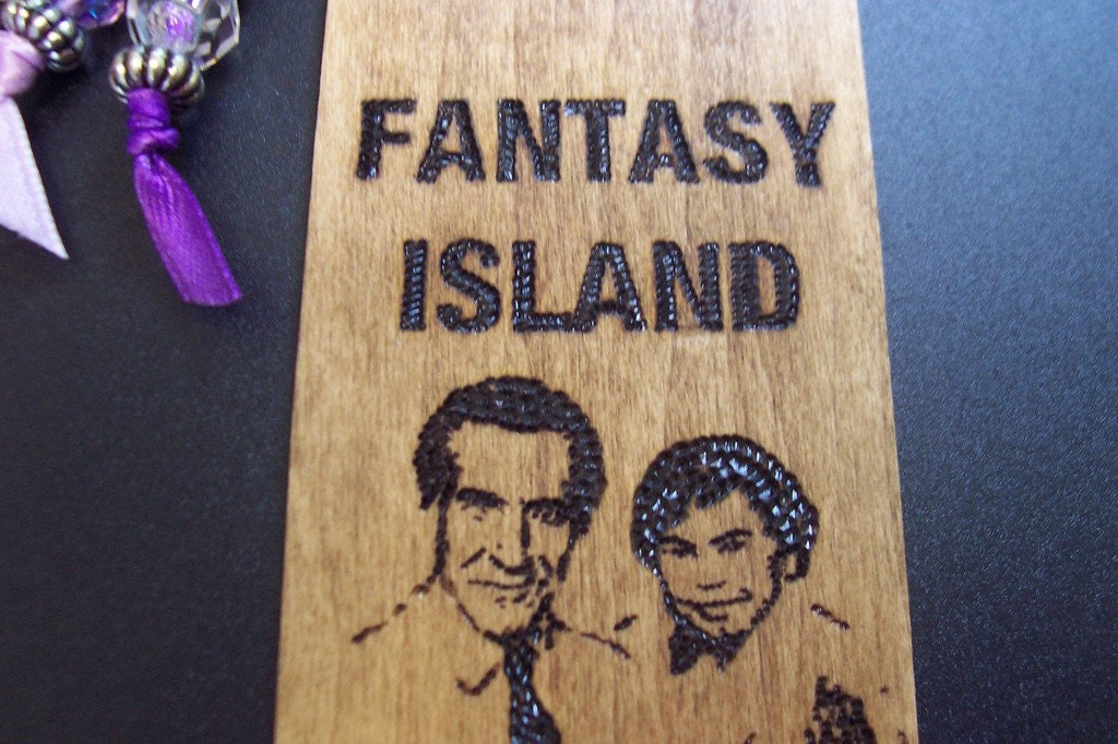 Fantasy Island Wooden Bookmark
