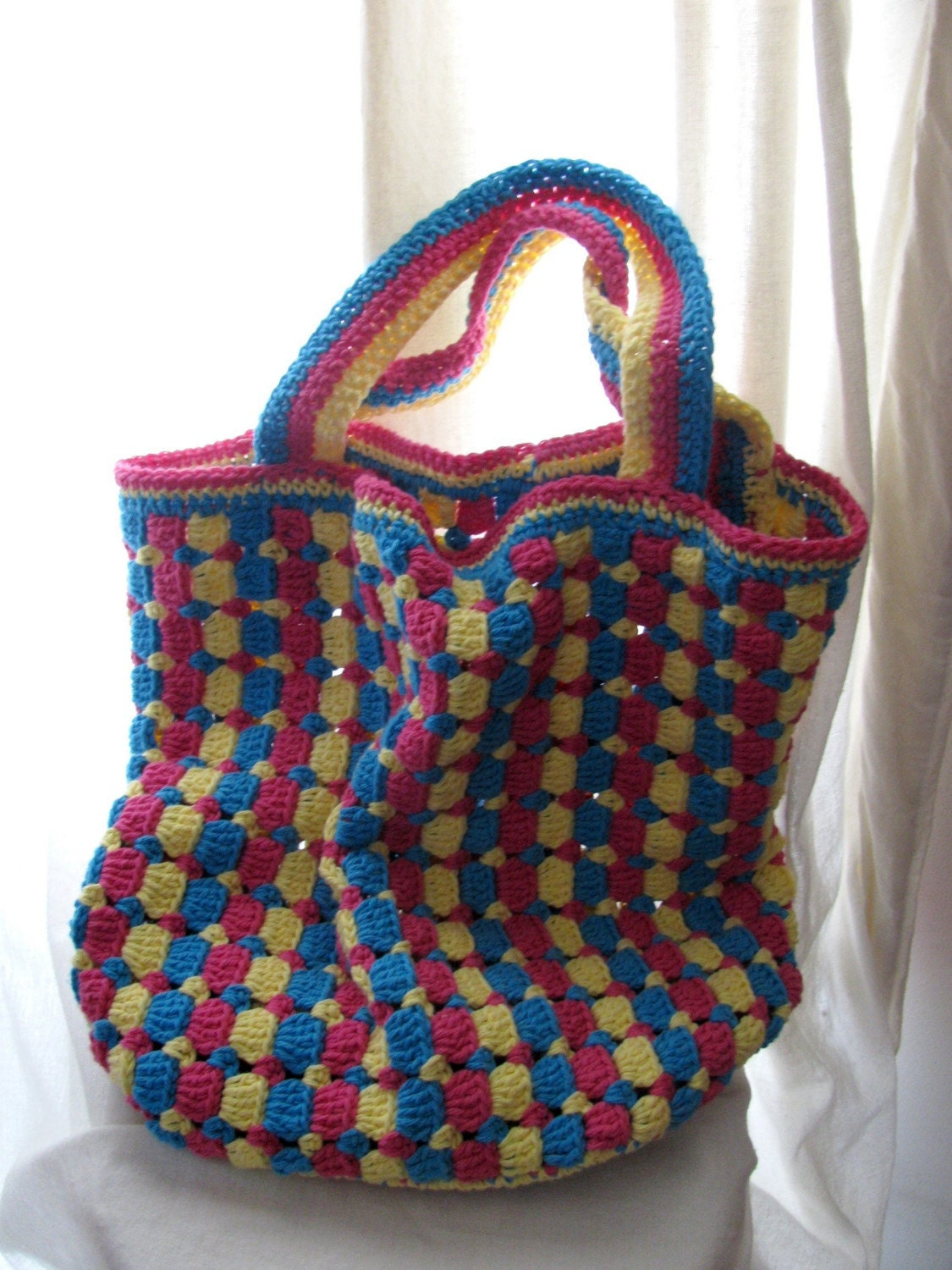Crochet Tote Pattern : BAG CROCHET TOTE - Crochet - Learn How to Crochet