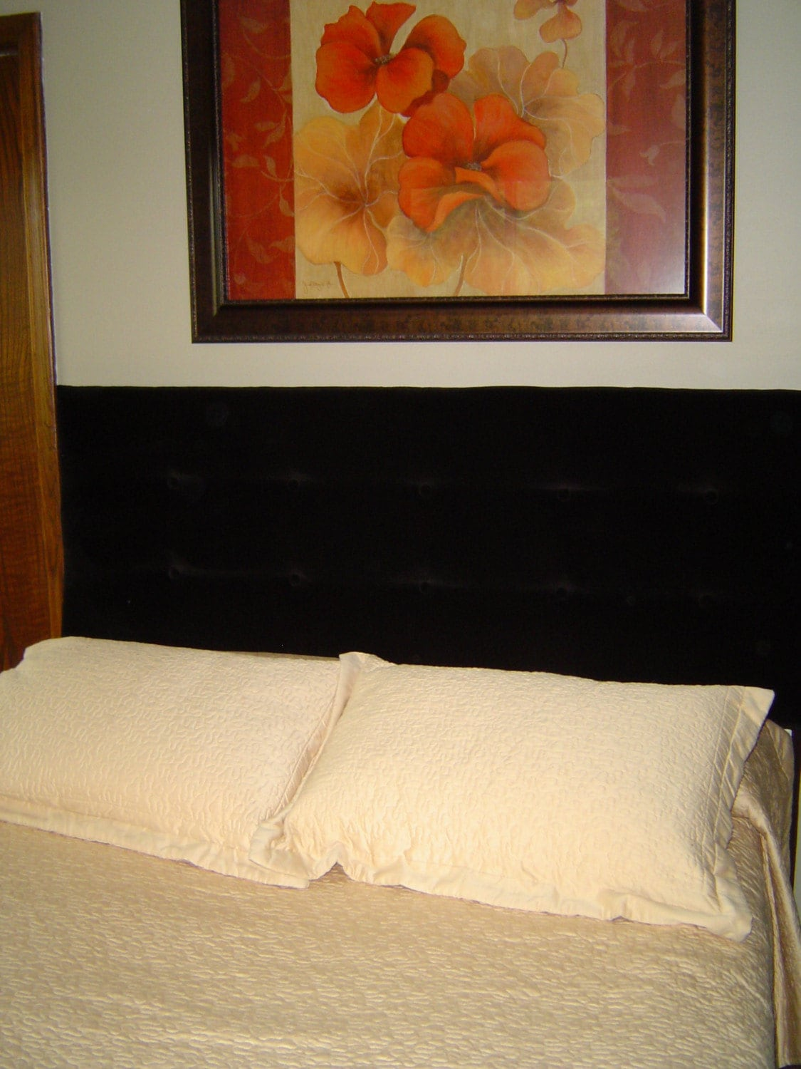 Custom Wood Pillow Stop Headboard Distressed Wooded Ball