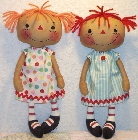 Free Doll Pattern Download and Instructions for Simple Rag Dolls