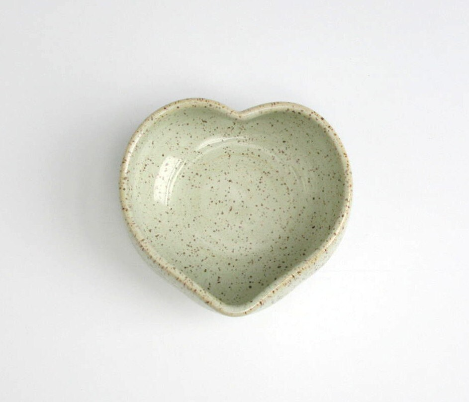 Heart Bowl - 4 3/4 inches - Glazed
