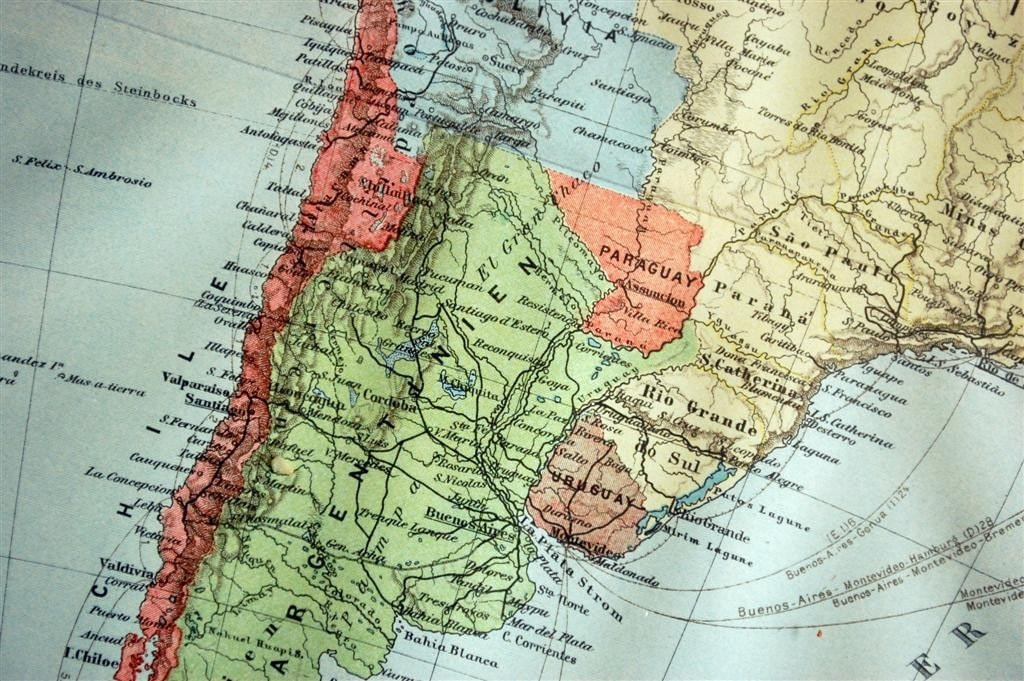 map of south america and caribbean. lank map of south america and