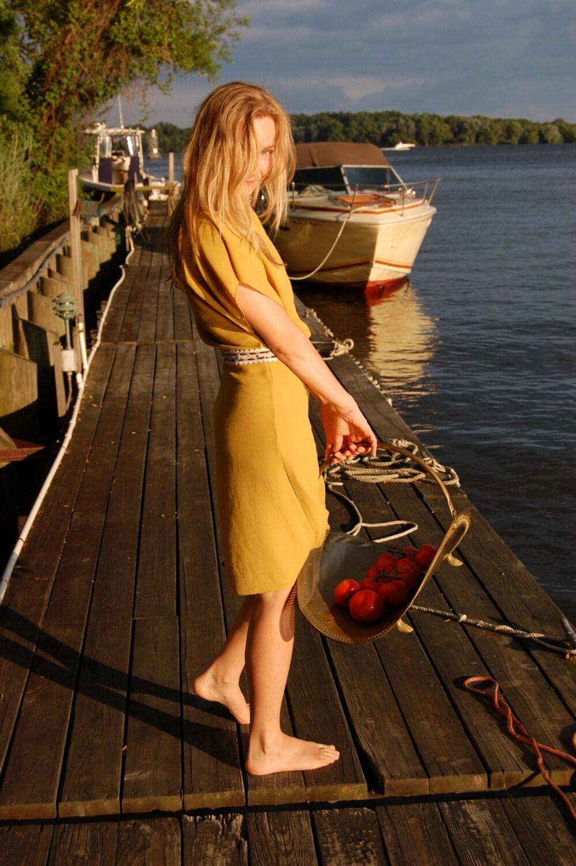 Mustard Silk Dress