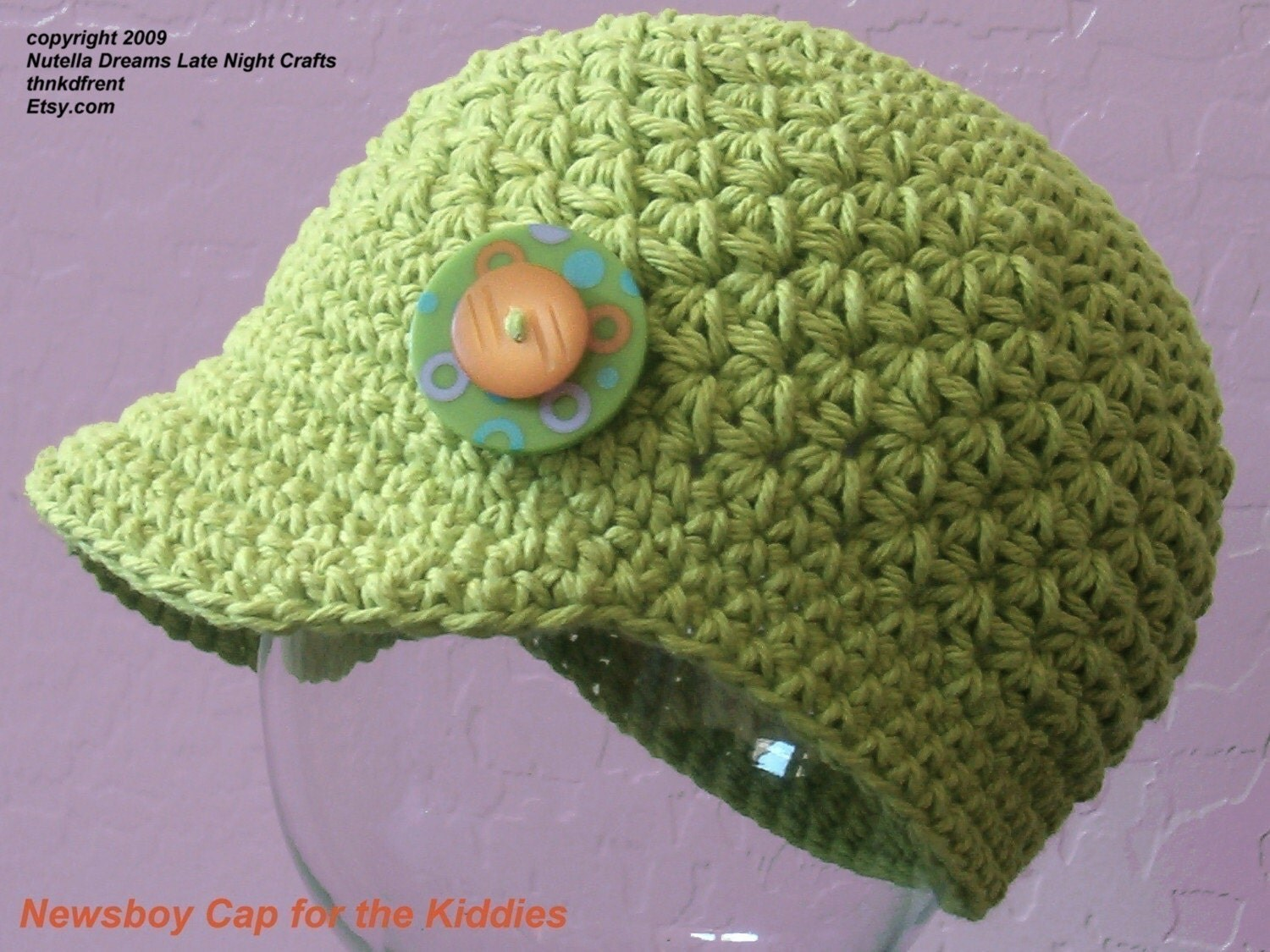 Free Crochet Pattern Toddler Newsboy Cap : Baby Newsboy Hat Crochet Pattern Free images
